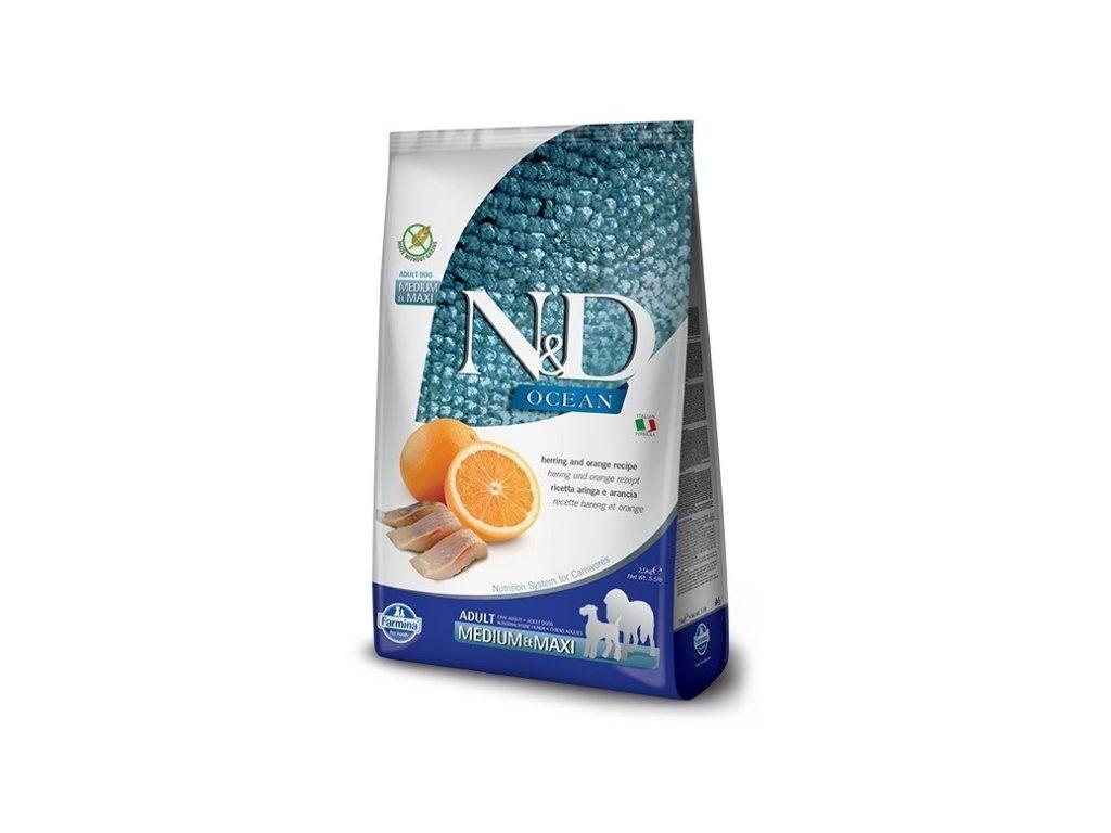 N&D OCEAN DOG GF Adult M/L Codfish&Pumpkin&Orange