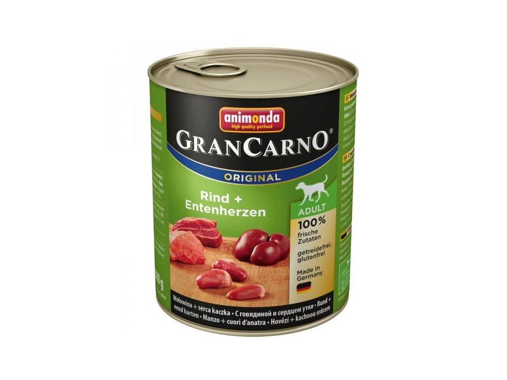Animonda GranCarno Adult Hovězí + Kachní srdce 800g