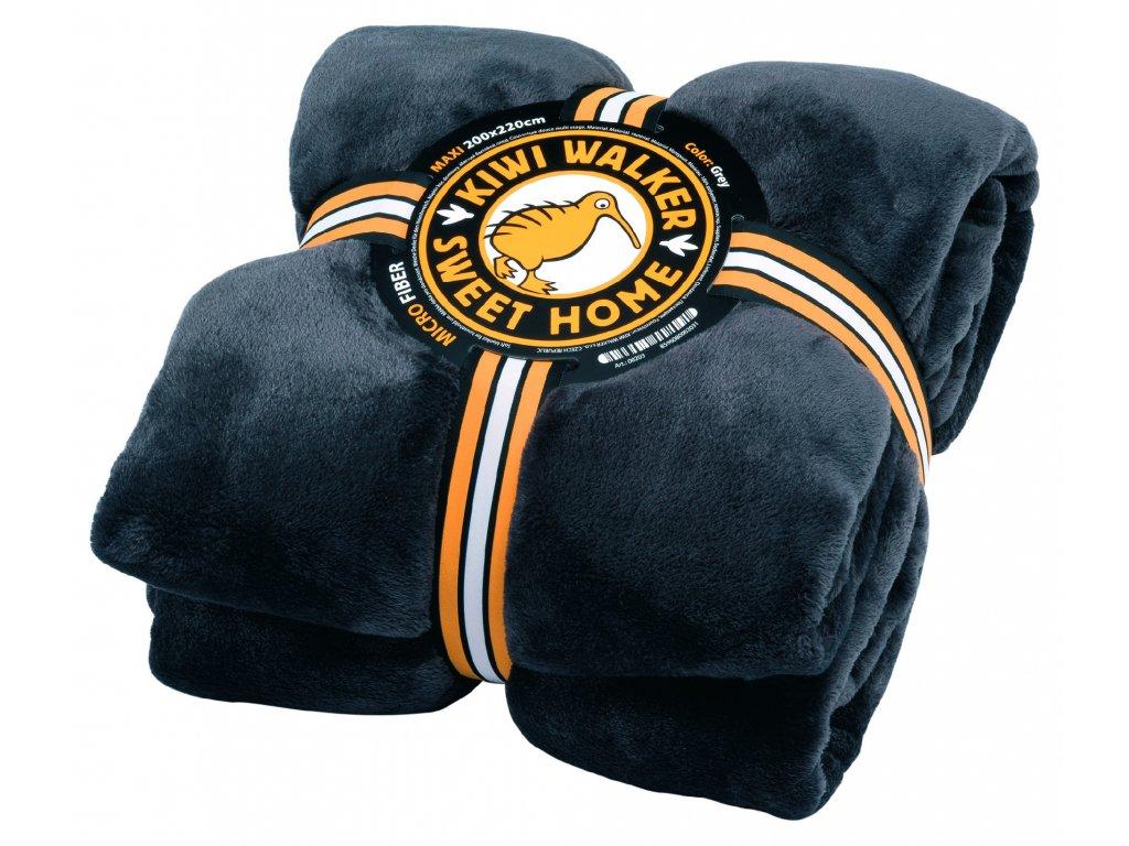 00203 SWEET HOME Blanket MAXI Grey WP