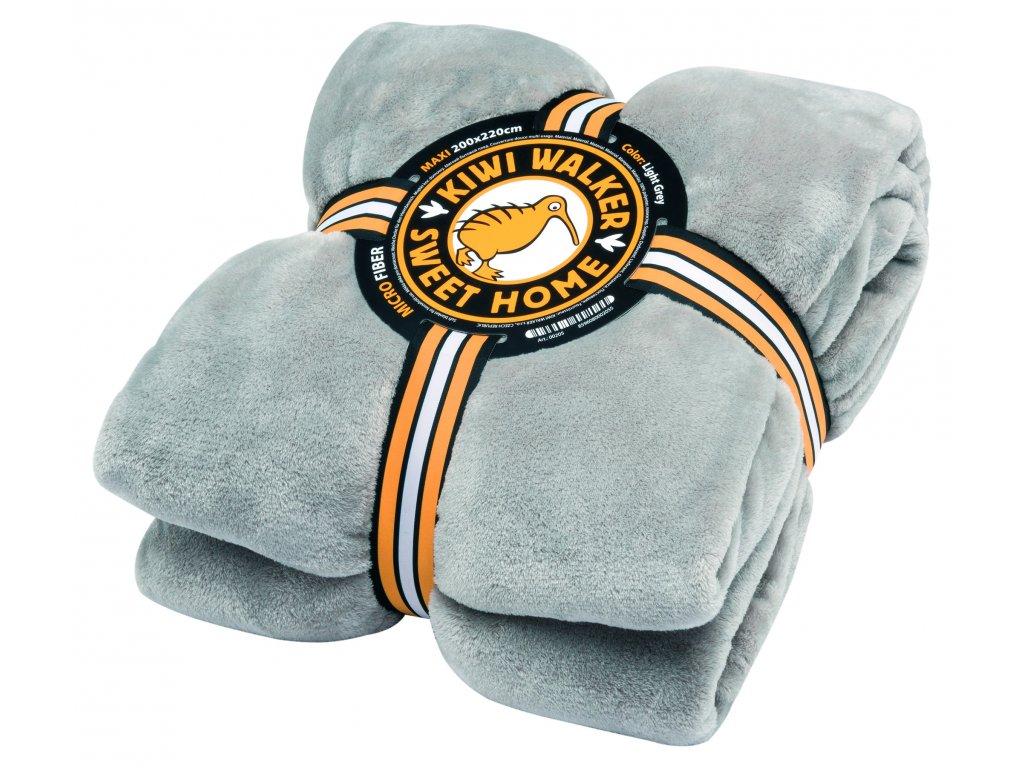 00205 SWEET HOME Blanket MAXI Light Grey WP