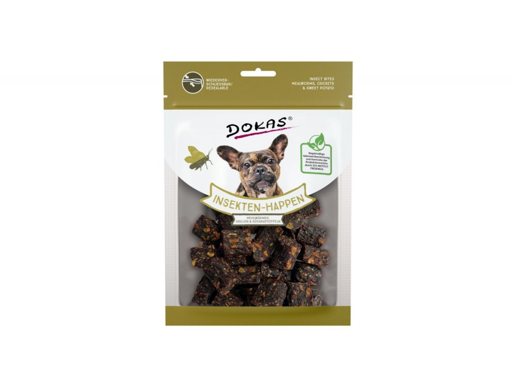Dokas – Kostičky s hmyzem a batáty 100 g