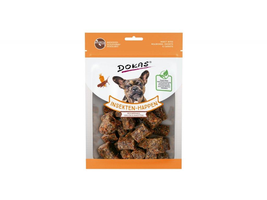 Dokas – Kostičky s hmyzem a mrkví 100 g