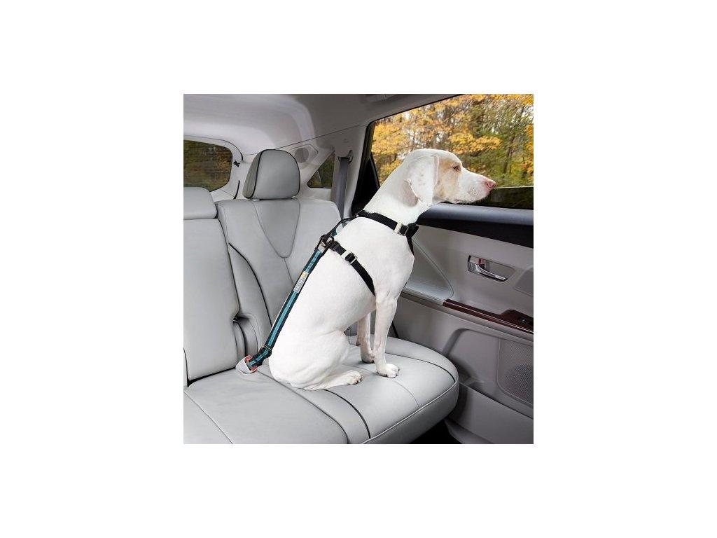 Bezpecnostni autopas pro psa s upinacim mechanismem Kurgo Direct to Seatbelt Tether coastal blue 2808201902301163736