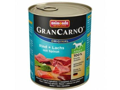Animonda Grancarno Adult losos & špenát 800 g