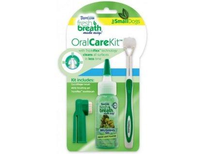Tropiclean - Oral Kit S - gel s kartáčky - pro psy - 59 ml