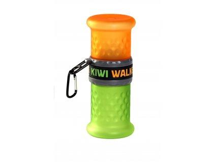 0122 Travel Bottle 2in1 OrangeGreen WO