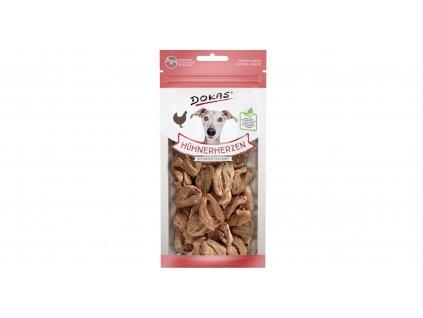 Dokas – Mrazem sušená kuřecí srdíčka pro psy 22 g