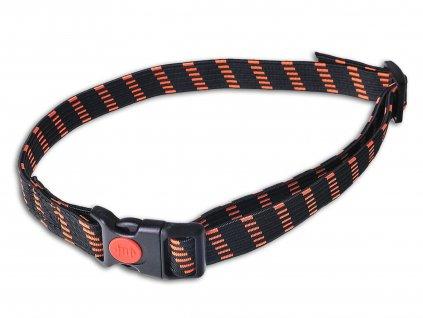 DogTrace elastický obojek pro elektronické obojky, oranžový