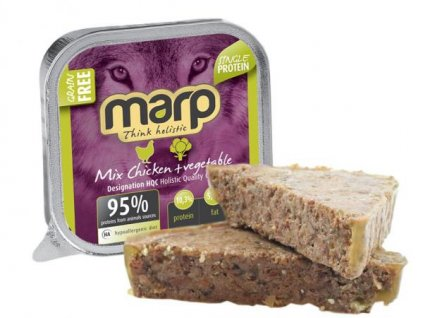 Marp MIX vanička pro psy kuře a zelenina 100 g