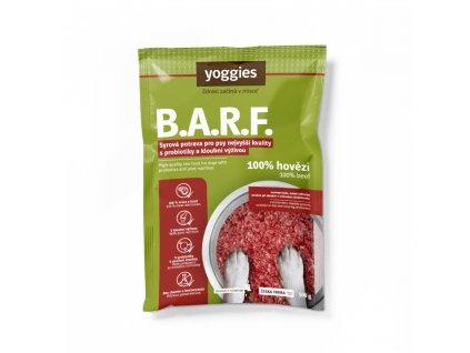 1714 yoggies b a r f 100 hovezi s probiotiky a kloubni vyzivou syrova potrava pro psy