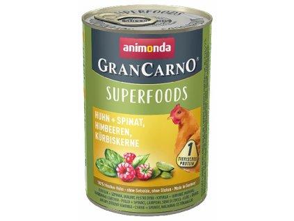 Animonda GranCarno Superfoods kuře,špenát,maliny,dýňová semínka 400 g
