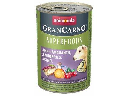 Animonda GranCarno Superfoods jehněčí, amarant, brusinky, los.olej 400 g