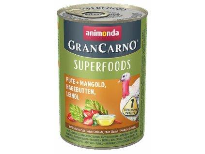 Animonda GranCarno Superfoods krůta, mangold, šípky, lněný olej 400 g