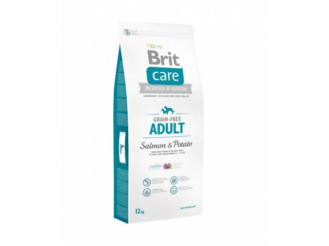 Brit Care Dog Adult S&M Salmon&Potato GF