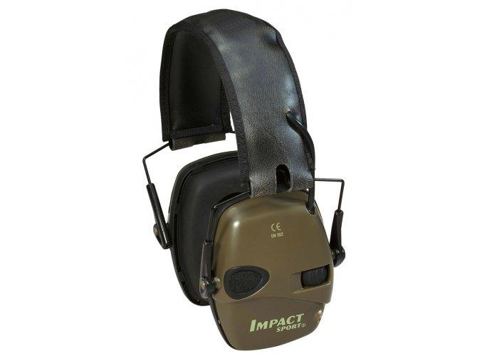 Elektronická sluchátka Howard Leight Impact Sport - olivové