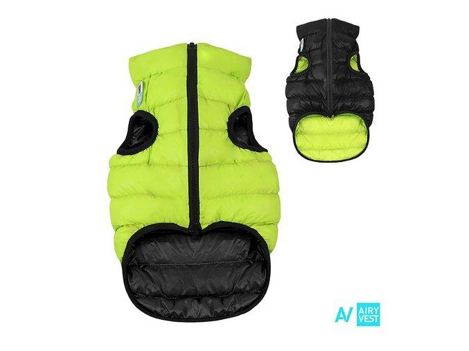 AIRY VEST bunda pro psy zelená/černá