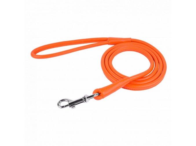 CoLLaR Soft kožené vodítko oranžové 122cm/6mm