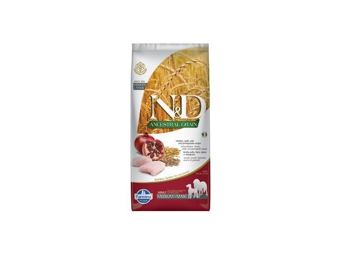 n d lg dog adult m l chicken pomegranate 12kg 233218 5