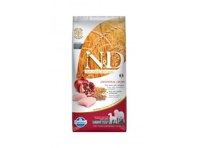 N&D LG DOG Light M/L Chicken & Pomegranate