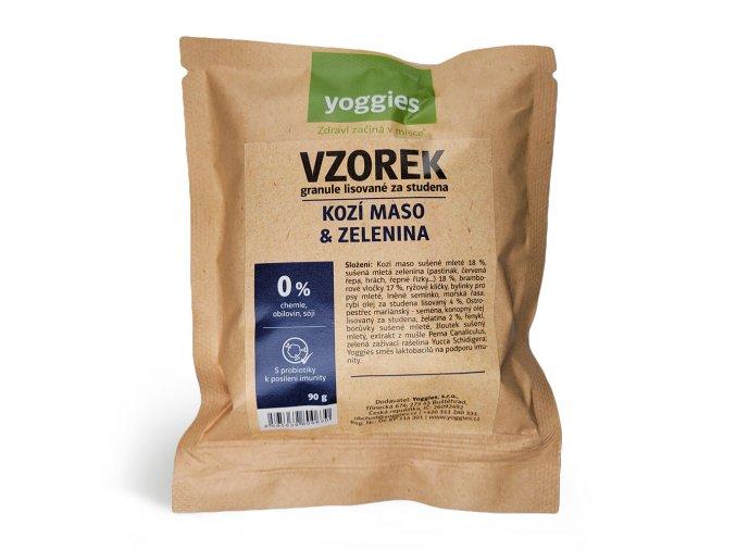 Yoggies Hypoalergenní kozí maso a zelenina