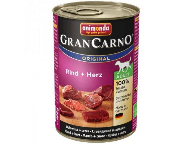 Animonda GranCarno Adult Hovězí + Srdce 400g