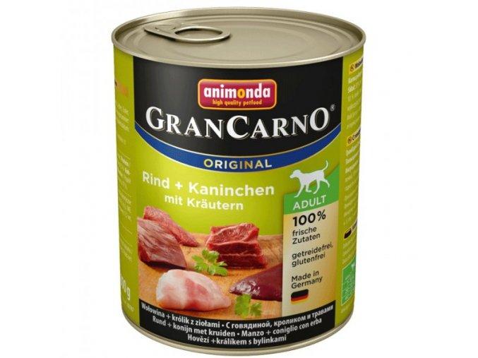 Animonda GranCarno Adult Králík + Bylinky 800 g