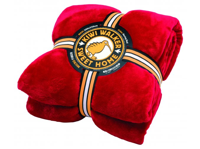 00207 SWEET HOME Blanket MAXI Racing Red WP