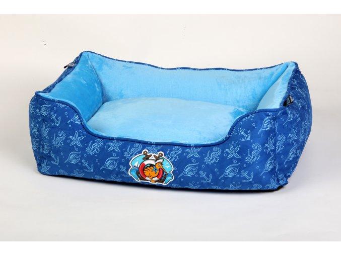 00312 Sailor Border BED Dark BlueLight Blue WO