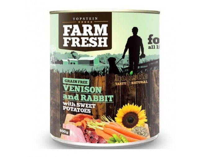 Farm Fresh Venison and Rabbit, Sweet Potato 400 g
