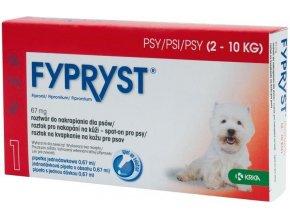 Fypryst Spot on Dog S 2-10kg 1x0,67ml