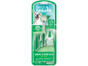 Tropiclean - Oral Kit M/ L - gel s kartáčky - pro psy - 59 ml