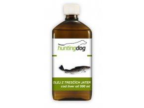 Hunting Dog - Olej z tresčích jater s pumpičkou 500 ml