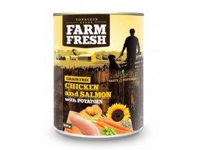 Farm Fresh Chicken & Salmon with Potatoes 400 g