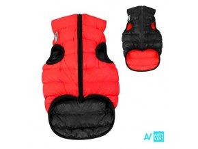 AIRY VEST bunda pro psy červená/černá