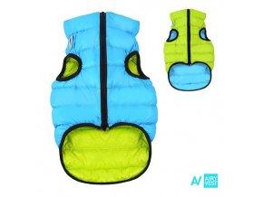 AIRY VEST bunda pro psy modrá/zelená