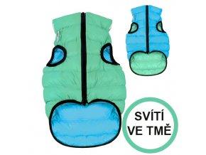 AIRY VEST LUMI bunda pro psy luminiscenční/modrá