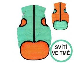AIRY VEST LUMI bunda pro psy luminiscenční/oranžová