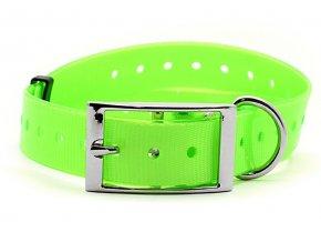 Plastový obojek zelený, 25 mm x 70 cm