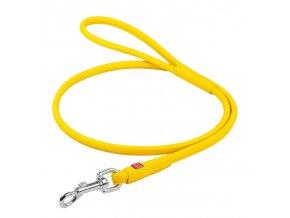 CoLLaR Soft kožené vodítko žluté 122cm/10mm