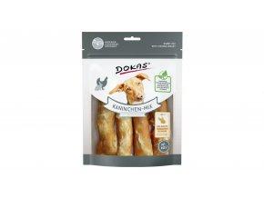 Dokas – Rolky z králičí kůže s kuřecím filetem 120 g