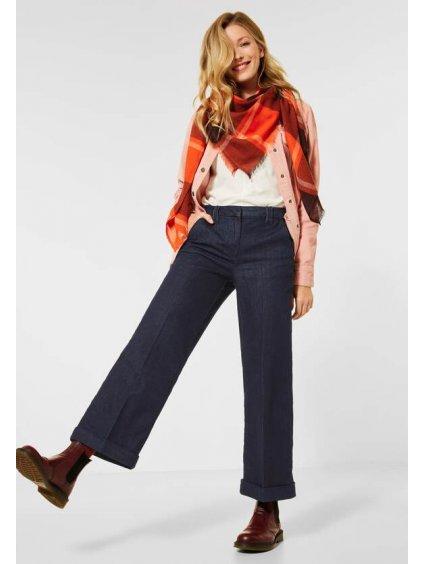 Tmavomodré široké nohavice
