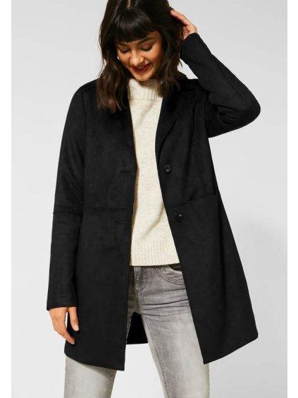 Dlouhý velurový kabát