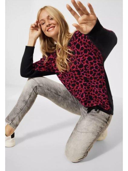 Žakárový pletený svetr