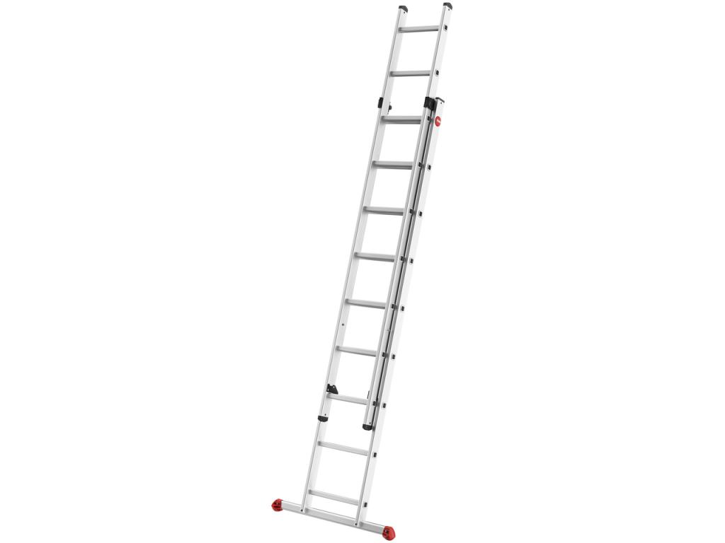 Hliníkový dvoudílný výsuvný žebřík HAILO PROFISTEP DUO 2 x 9 příček - 1