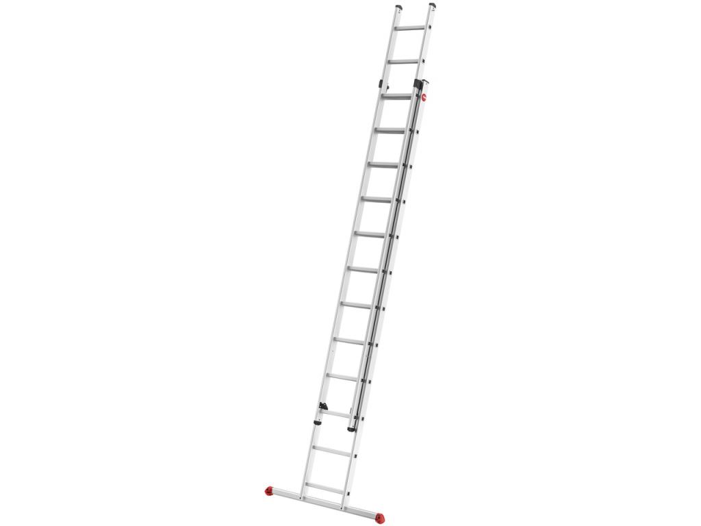 Hliníkový dvoudílný výsuvný žebřík HAILO PROFISTEP DUO 2 x 12 příček - 1