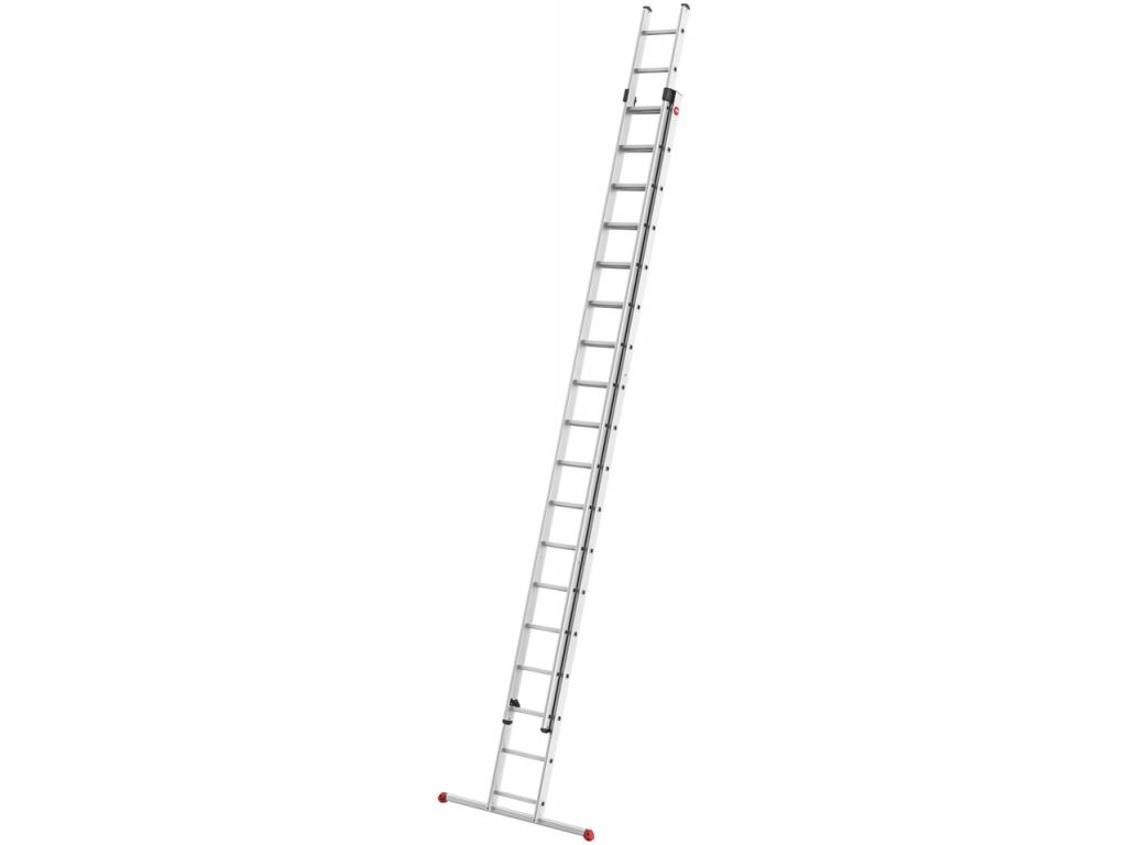 Hliníkový dvoudílný výsuvný žebřík HAILO PROFISTEP DUO 2 x 18 příček - 1