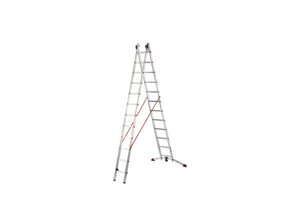Hliníkový dvoudílný výsuvný žebřík HAILO PROFILOT 2 x 12 příček