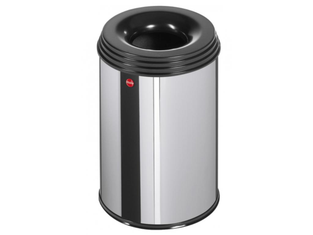 Samozhášecí odpadkový koš Hailo ProfiLine Safe M 15 litrů nerez