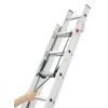 Hliníkový dvoudílný lanový žebřík HAILO PROFISTEP DUO 2 x 15 příček