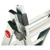 Hliníkový třídílný žebřík výsuvný HAILO PROFILOT COMBI 2 x 9 + 1 x 8 příček